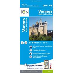 Achat Carte randonnées IGN Vannes - Golfe du Morbihan - 0921 0T