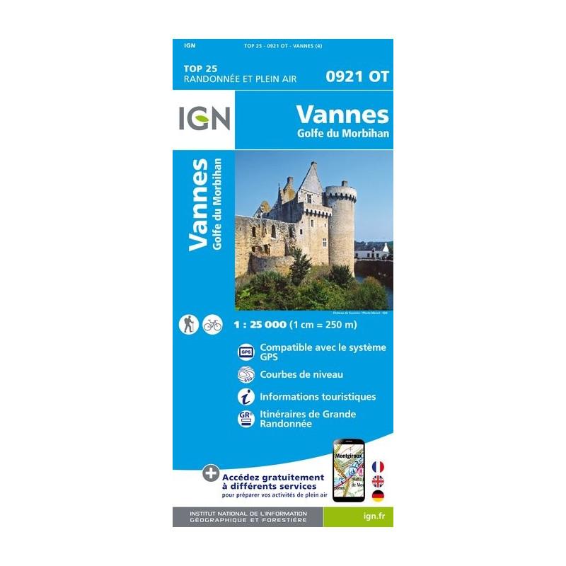 Vannes - Golfe du Morbihan - IGN - 0921 0T