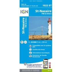 Achat Carte randonnées IGN St-Nazaire - 1022 ET