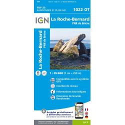 Achat Carte randonnées IGN La Roche Bernard - Parc naturel régional de Brière - 1022 OT