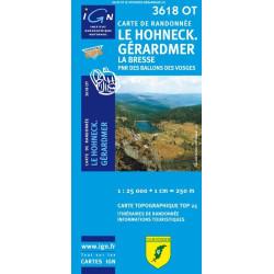 Achat Carte randonnées IGN - 3618 OT - Le Hohneck Gérardmer - La Bresse