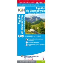 Aiguille de Chambeyron - Cols de Larche et de Vars - IGN 3538 ETR