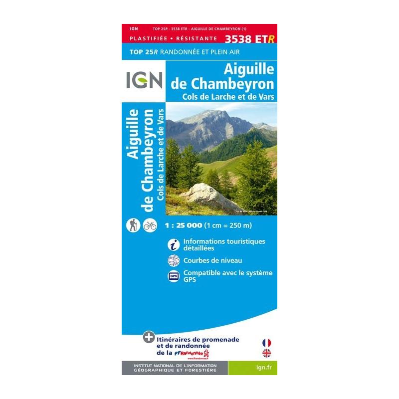 Aiguille de Chambeyron - Clos de Larche et de Vars - IGN 3538 ETR