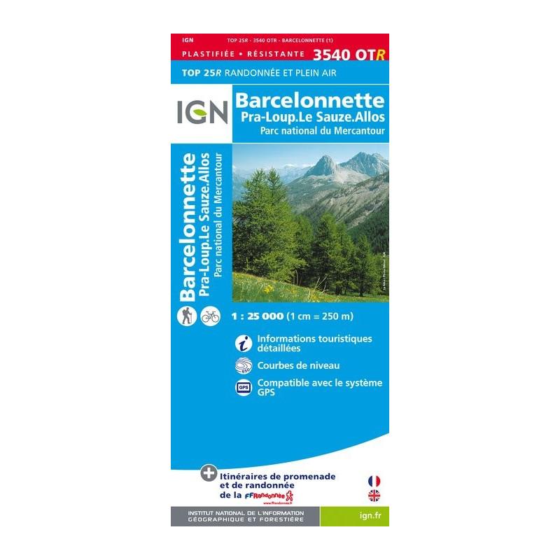 Barcelonette - Pra Loup - PN du Mercantour - IGN 3540 OTR