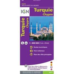 Achat Carte routière Turquie, Chypre - IGN