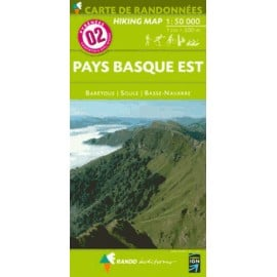 Achat Carte randonnées - Pays Basque Est - Randoéditions N°2
