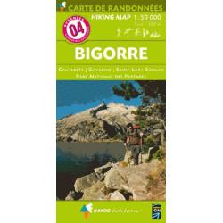 Achat Carte randonnées - Bigorre - Randoéditions N°4