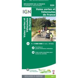 Carte voies vertes et véloroutes de  France - IGN