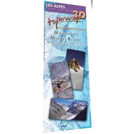 Achat Topomap 3D Massif du Mont-Blanc - Face au Sud