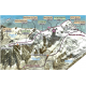 Topomap 3D Massif du Mont-Blanc - Face au Sud