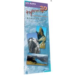Topomap 3D Beaufortain - Face au Sud