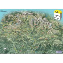 Poster Cols & grandes montées des Hautes Pyrénées - Face au Sud