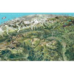 Panorama du Massif du Mont Blanc - Face au Sud
