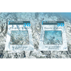Aspe, Ossau 3D (hiver) - Face au Sud
