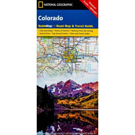 Achat carte routière Colorado - National Géographic