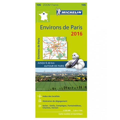 Environs de Paris 2016 - Michelin Zoom 106