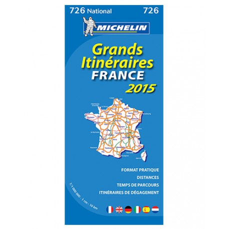 achat carte routi re michelin grands itin raires france 2015 726. Black Bedroom Furniture Sets. Home Design Ideas