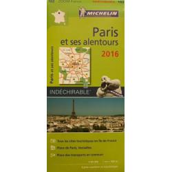 Paris et ses alentours 2016 - Michelin Zoom 102