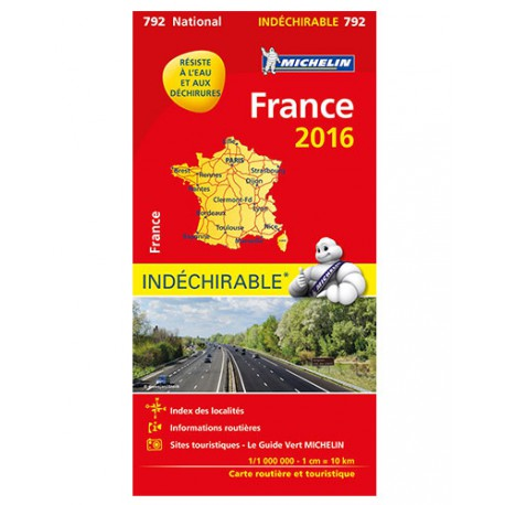 France indéchirable 2016 - Michelin 792