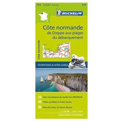 Achat Carte routière Michelin - Normandie Cotière - Zoom 117
