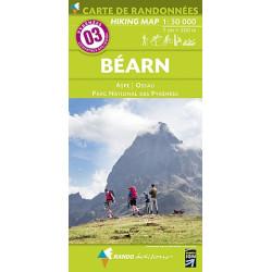 Achat Carte randonnées - Béarn - Randoéditions N°3