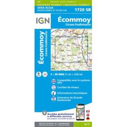 Achat Carte randonnées Ecommoy, Cérans, Fouilletourte - IGN 1720 SB