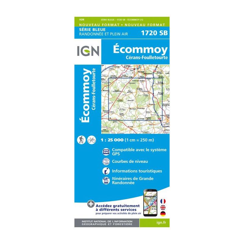Ecommoy, Cérans, Fouilletourte - IGN 1720 SB