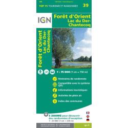 Forêt d'Orient, Lac du Der Chantecoq - IGN TOP75