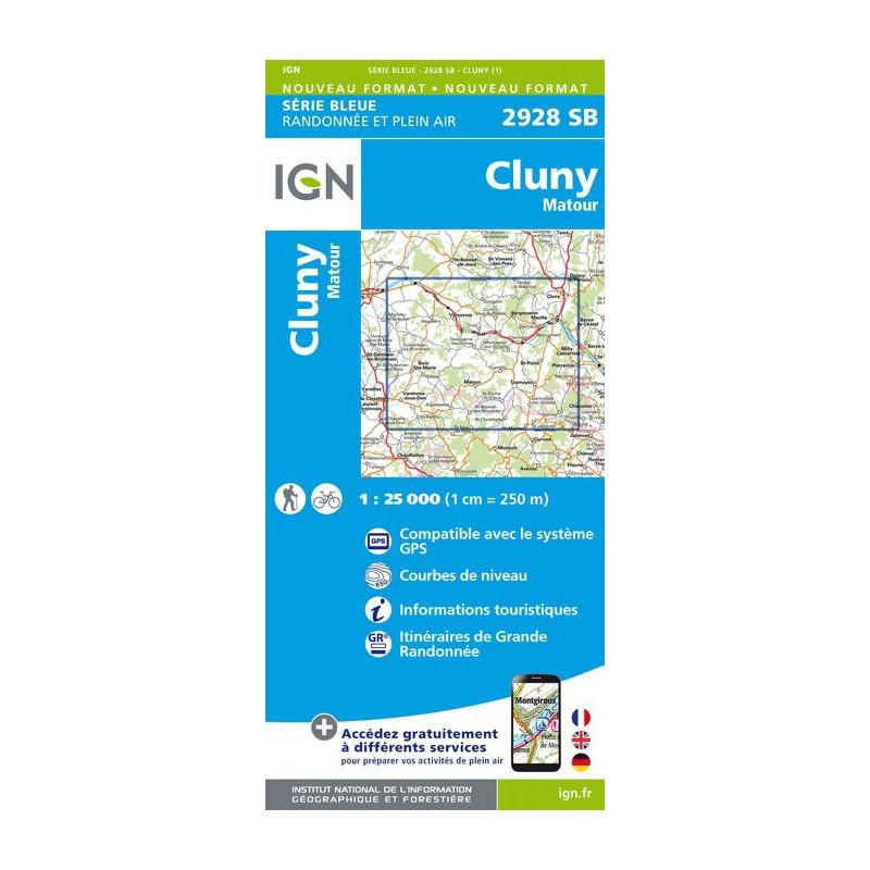 Cluny, Matour - IGN  2928 SB