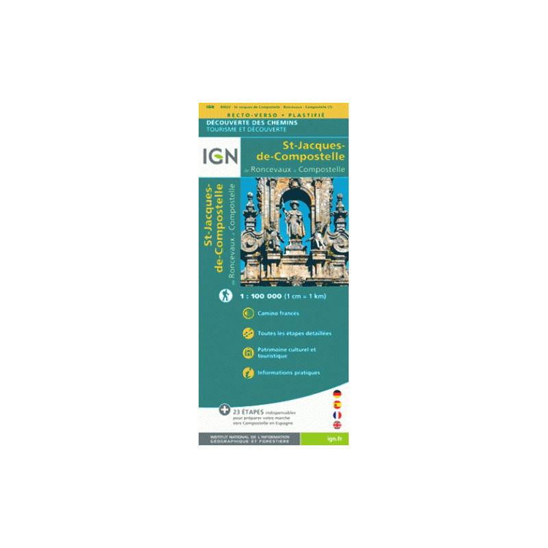 St Jacques de Compostelle, de Roncevaux à Compostelle - IGN