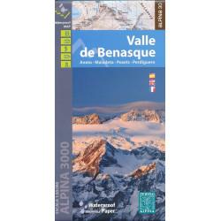 Achat carte de randonnées Valle de Benasque - Alpina