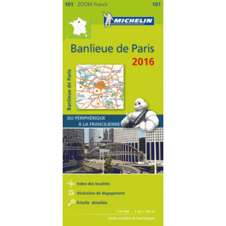 Grande banlieue Paris 2016 - Michelin Zoom 101