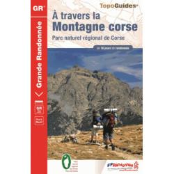 Achat Topo guide randonnées - A travers la montagne Corse - FFRP 067