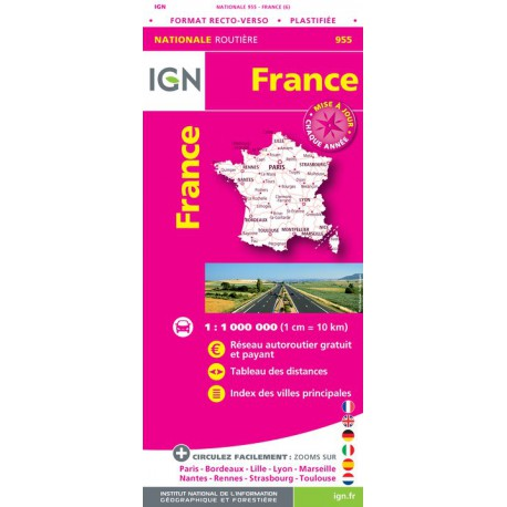 Carte Alsace Plastifiee.Achat Carte Routiere France Plastifiee 2017 Ign 955