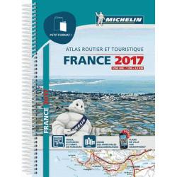 Atlas routier et touristique Michelin petit format à spirales France 2017