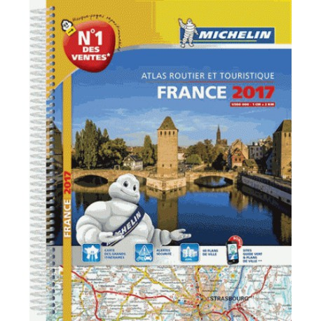 achat atlas routier et touristique michelin france spirales 2017. Black Bedroom Furniture Sets. Home Design Ideas