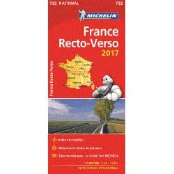 Achat Carte routière Michelin - France recto-verso 2018 - 722