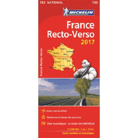 France recto-verso 2017 - Michelin 722