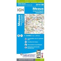 Meaux, Crécy la Chapelle, Coulommiers - IGN 2514 SB