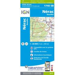 Nérac, Houeillès - IGN 1740 SB