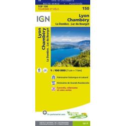 achat carte routière Lyon Chambéry - TOP 100 IGN - 150