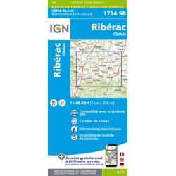 Ribérac, Chalais - IGN 1734 SB