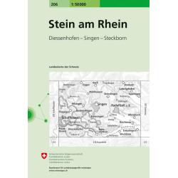 Achat Carte randonnées swisstopo - Stein am rhein 206