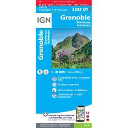 Achat carte de randonnées  Grenoble - IGN 3335 OTR - carte Résistante