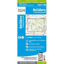 Achat Carte randonnées IGN - 2027 SB - Bélâbre/St Benoit du Sault