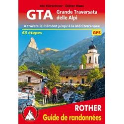 Achat Topo guide randonnées - GTA Grande Traversata delle Alpi - Rother