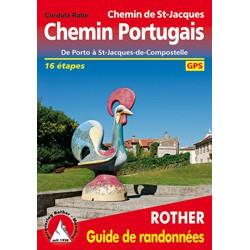 Achat Topo guide randonnées - Chemin Portugais Le Chemin de St-Jacques de Porto à St-Jacques-de-Compostelle 16 étapes - Rother