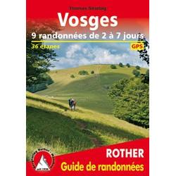 Achat Topo guide randonnées - Vosges Rando de 2 à 7 jours - Rother