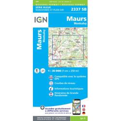 Achat Carte randonnées Maurs, Montsalvy - IGN 2337 SB