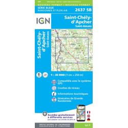 Achat Carte randonnées IGN - 2637 SB - Saint-Chély-d'Apcher, saint Amand